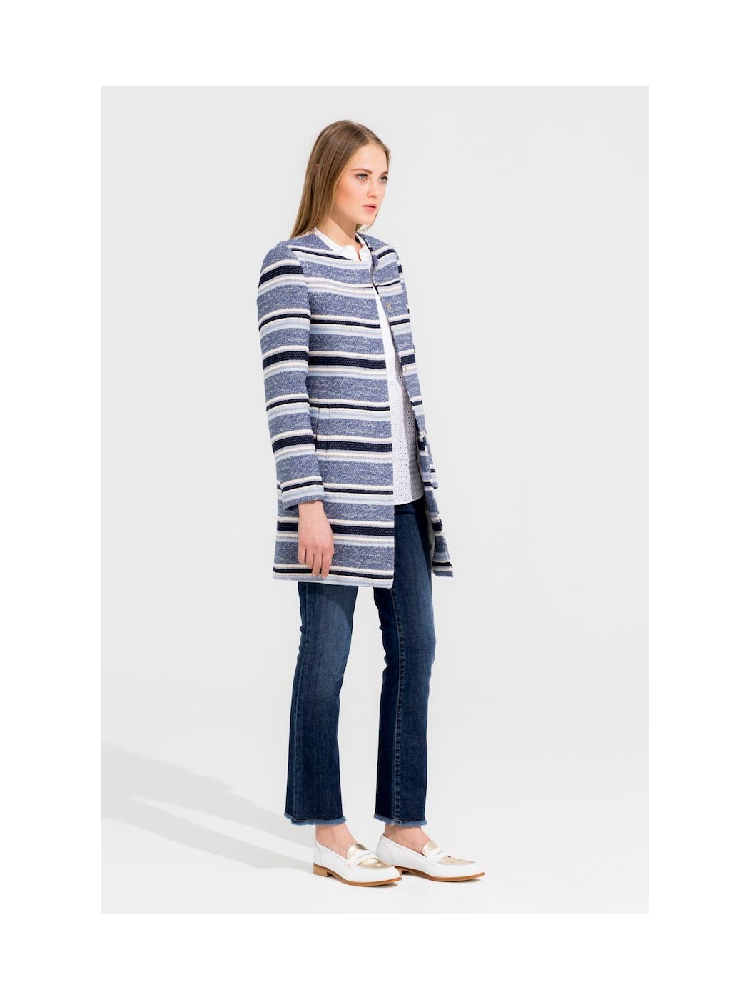 SOFIA NAVY STRIPE JACQUARD +COLOURS