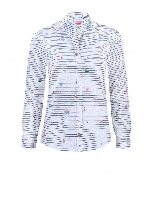 VILAGALLO SURF STRIPE PRINT