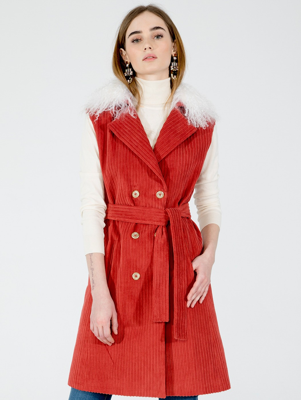 CHALECO TRENCH ERICA GINGER CORDUROY