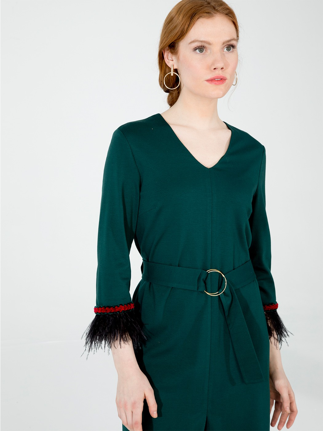 DRESS FIONA GREEN KN KN
