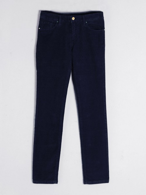 PANTALÓN SLIM FIT NAVY CORD