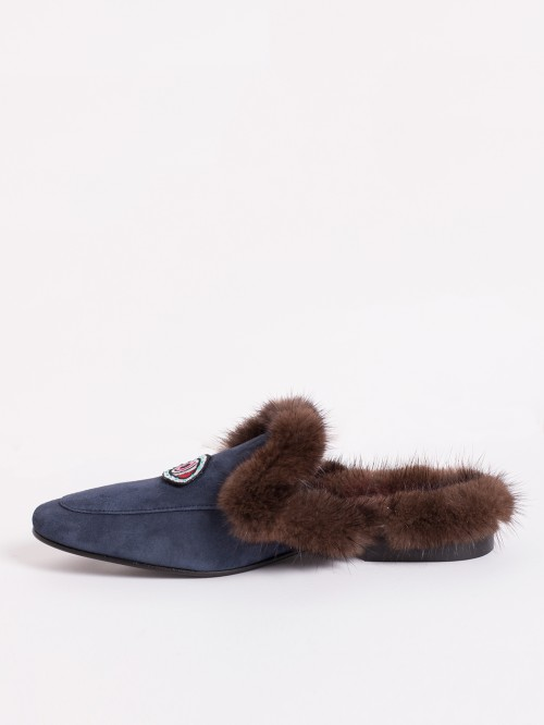 ANTONIA NAVY FUR SUEDE