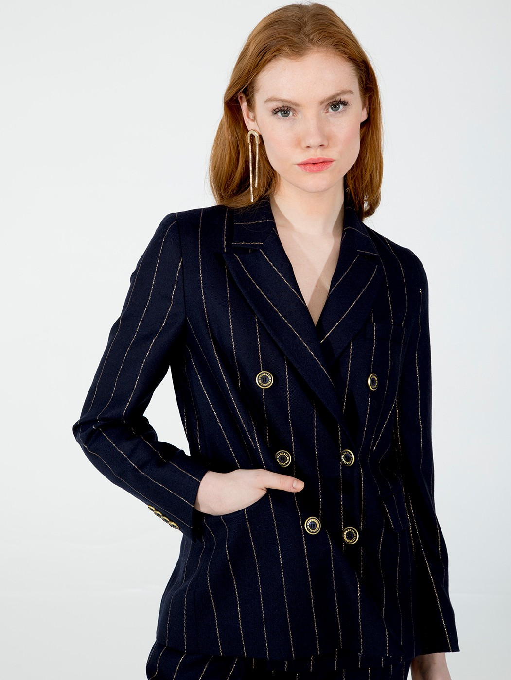 CHAQUETA TIFFANY NAVY GOLD DIPLO