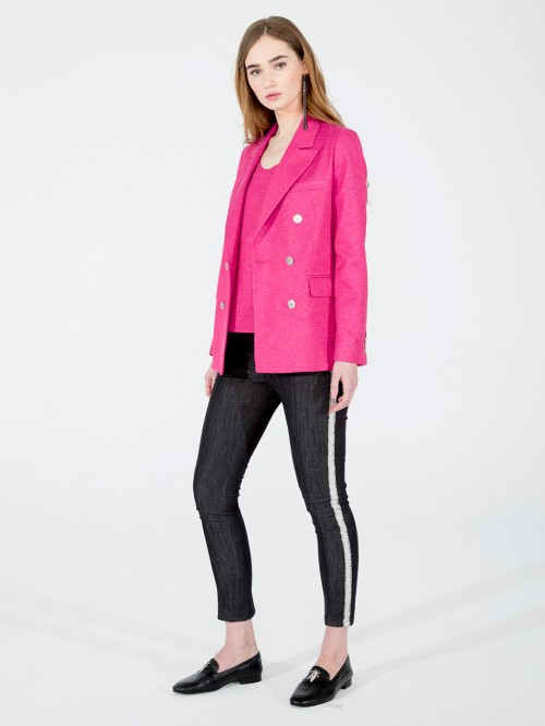 TIFFANY BLAZER IN RASPBERRY PINK