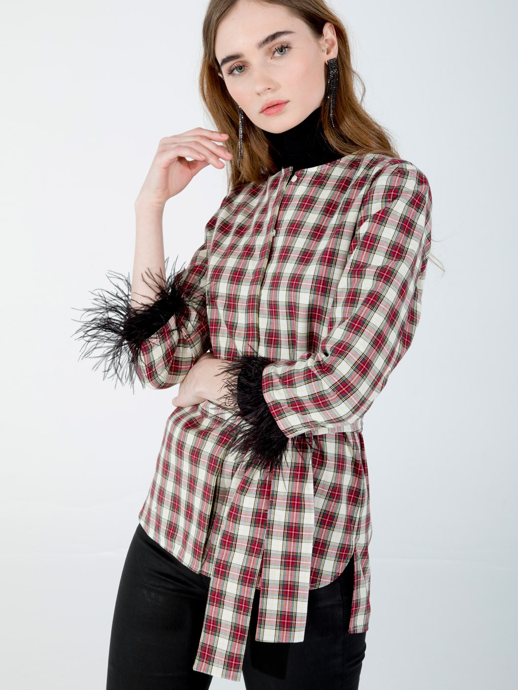 CAMISA ERICA RED SCOTTISH SHIRT