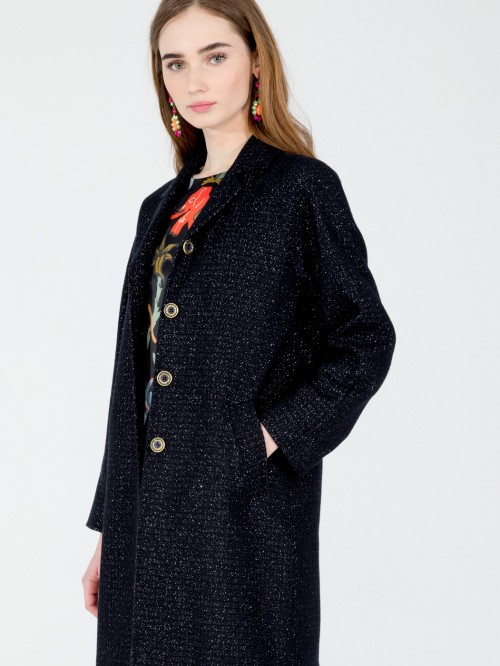 CONSTANZA COAT IN NAVY SILVER