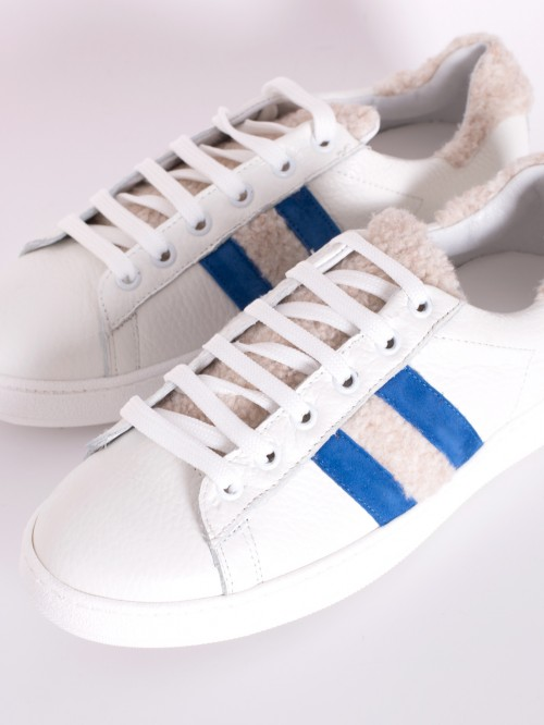 LUCCA SNEAKER IN WHITE BLUE
