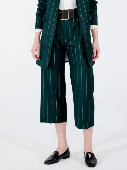 SYLVIE TROUSERS IN GREEN SILVER DIPLO