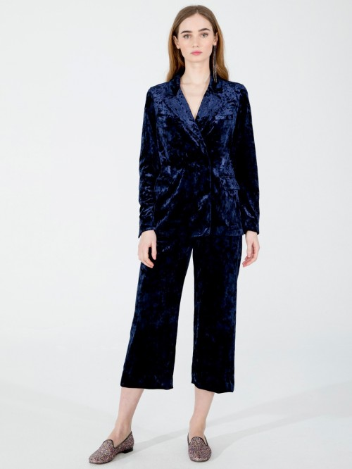 SYLVIE TROUSERS IN NAVY VELVET N