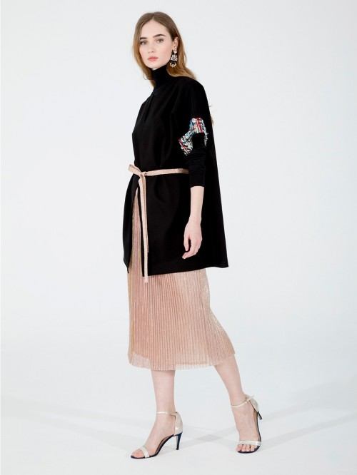 SKIRT PLEATED MIDI