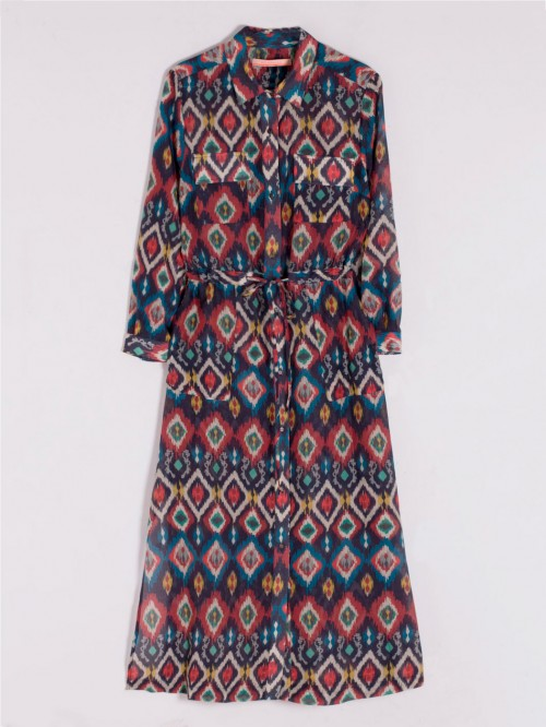 BRIGITTE DRESS IN IKAT W