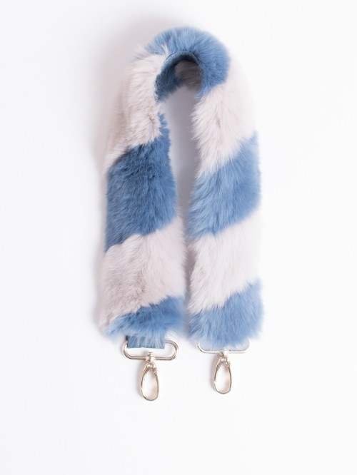 FUR STRAP REX BLUE GREY