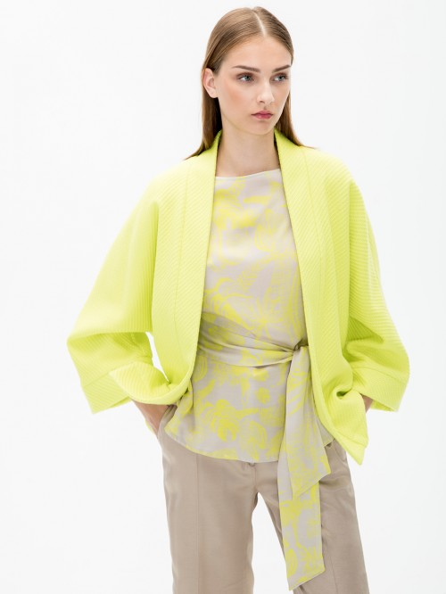 ASA JACKET IN LIME SPRING COTTON