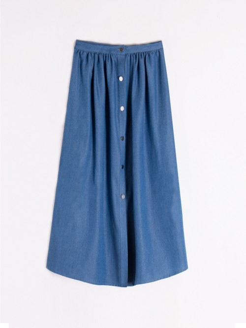 MARGOT SKIRT IN LIGHT DENIM