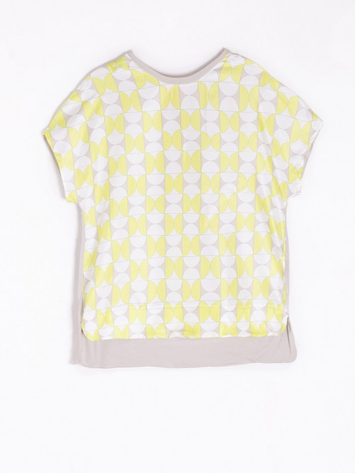 PIA T-SHIRT IN LIME ARKEN SILK