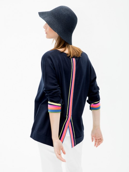 SASHA KNITWEAR IN MULTICOLORED NAVY