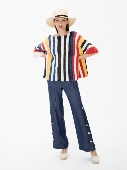TELMA KNITWEAR IN COLOUR STRIPES