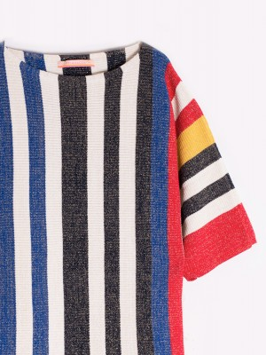 JERSEY TELMA COLOUR STRIPES
