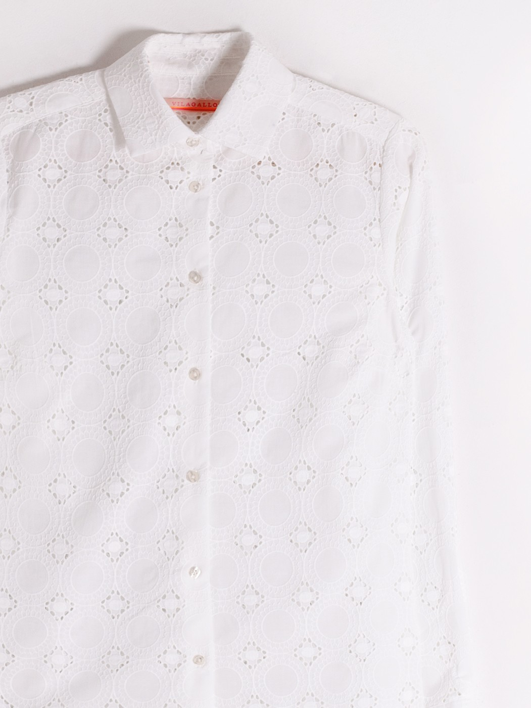 CAMISA DOVER WHITE EMBROIDERY