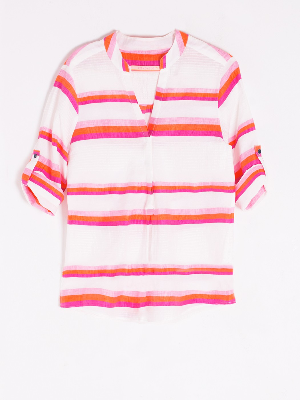 CAMISA FILIPPA ORANGE PINK STRIPE