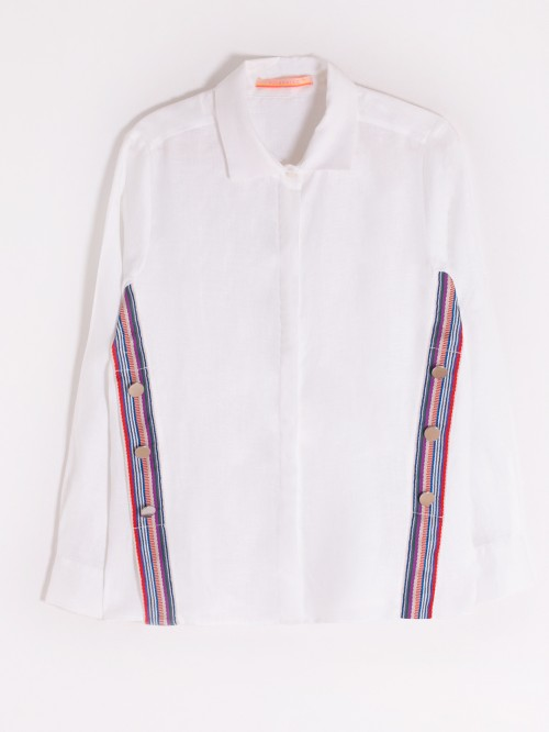 MARTINA SHIRT WHITE LINEN