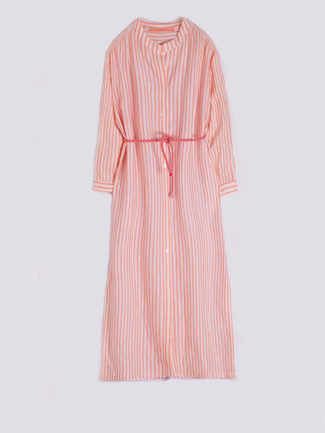 ANETT DRESS ORANGE LINEN STRIPE