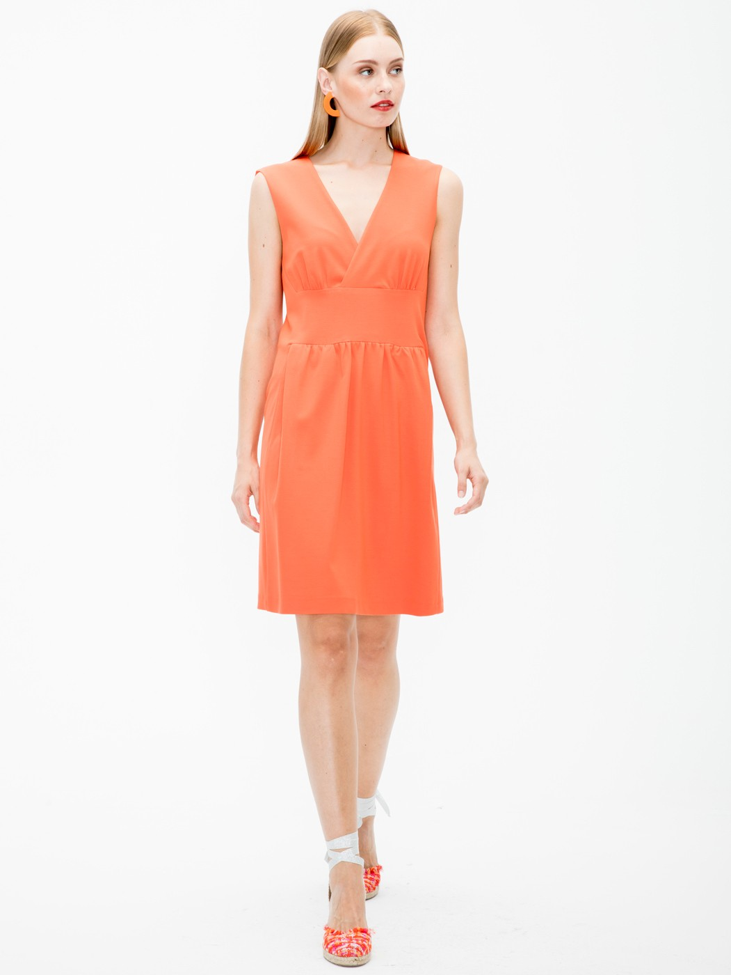 MANDIE DRESS ORANGE KN