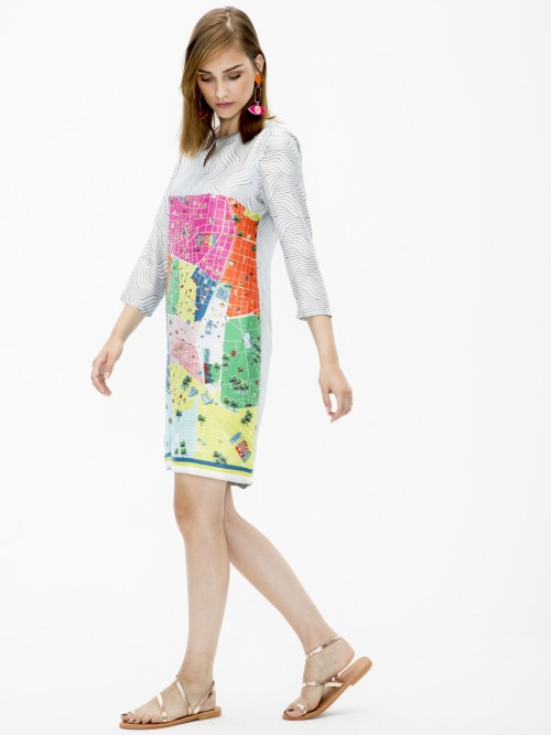 TESA DRESS MADRID PRINT