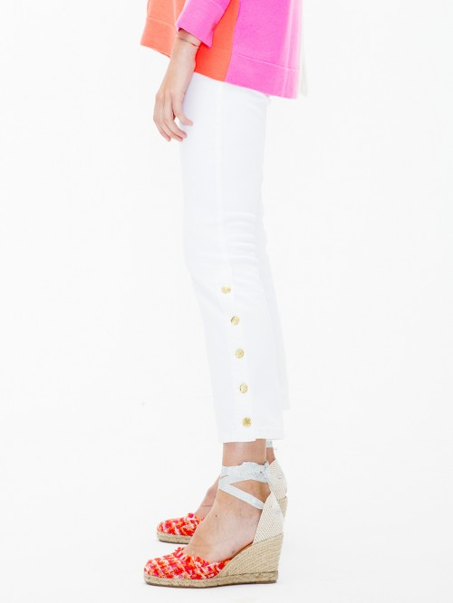 FABIOLA TROUSERS WHITE JEANS FAB