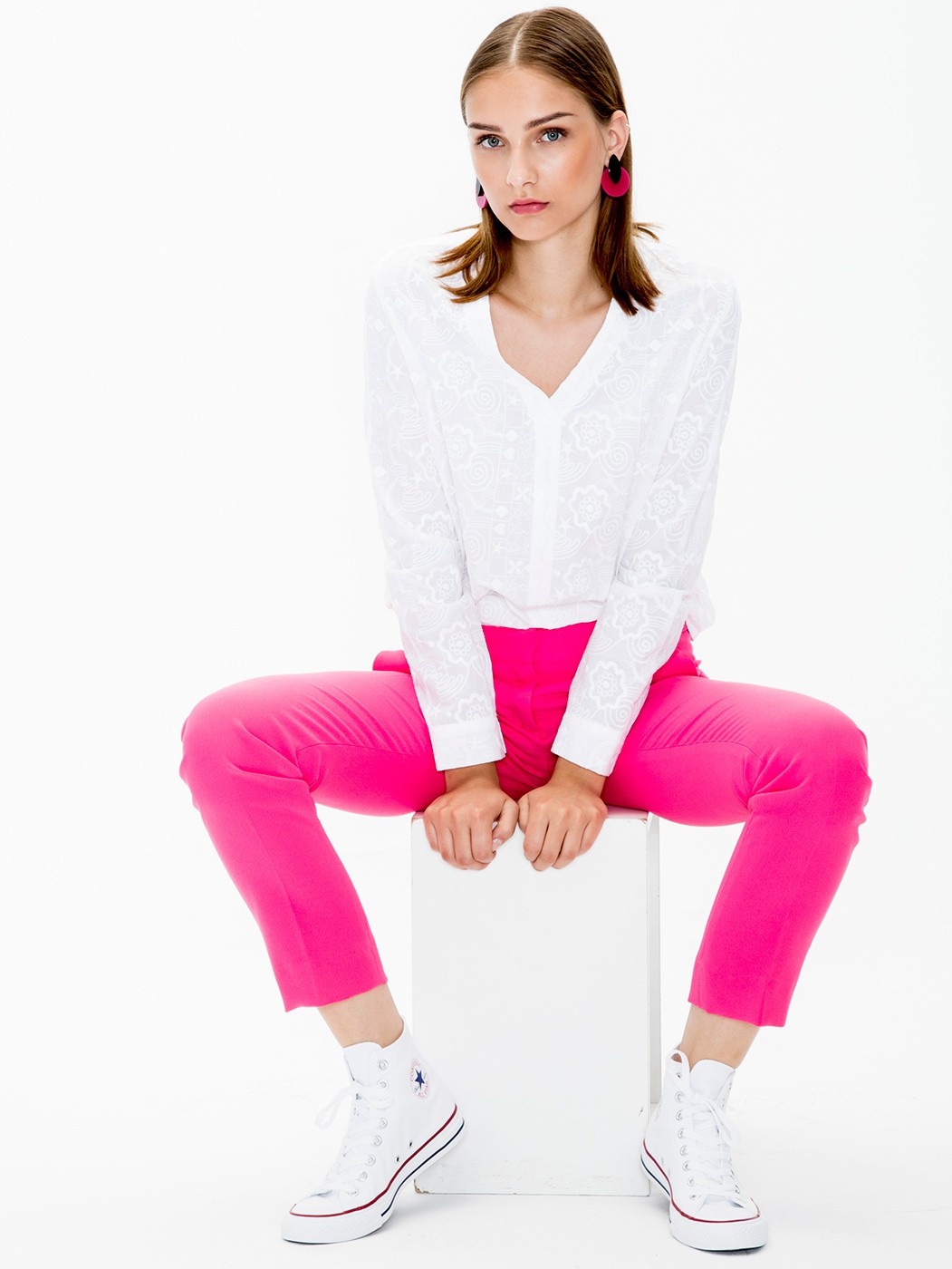 PITILLO TROUSERS PINK CREPE