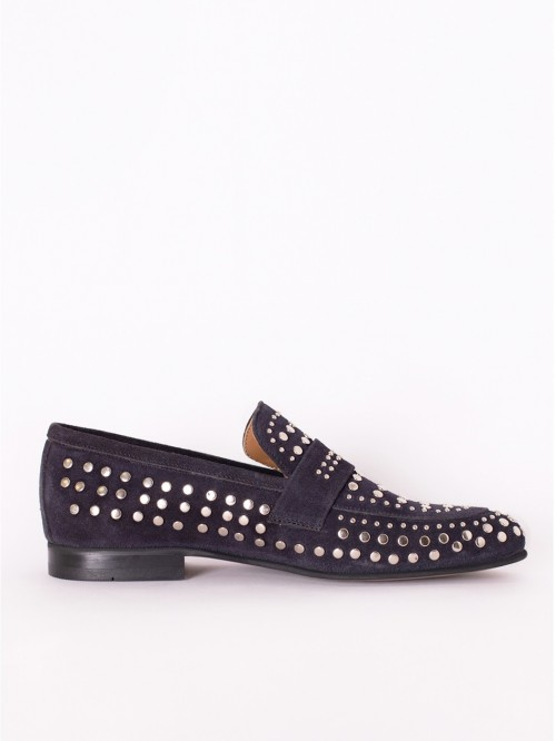 NAVY STUDS LOAFER