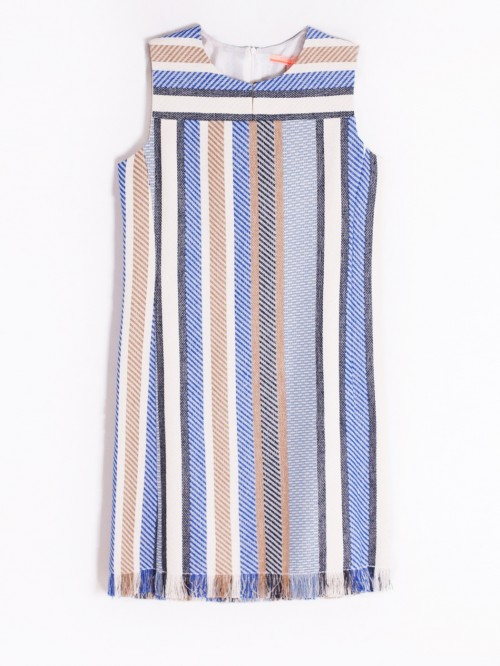 VESTIDO MONICA BLUE CAMEL STRIPE