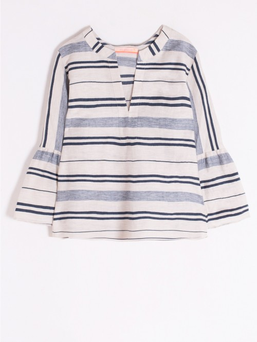 TANA SHIRT NAVY STRIPE