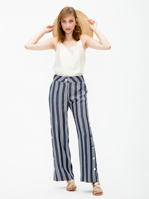 NATALIA TROUSERS NAVY STRIPES HR