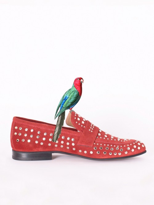 RED STUDS LOAFER