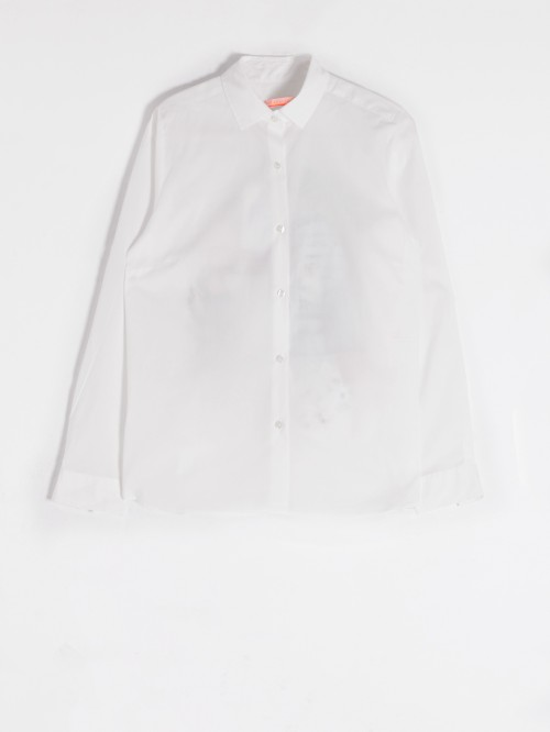 CAMISA DOVER BORDADA COCKTAIL WHITE POPLIN