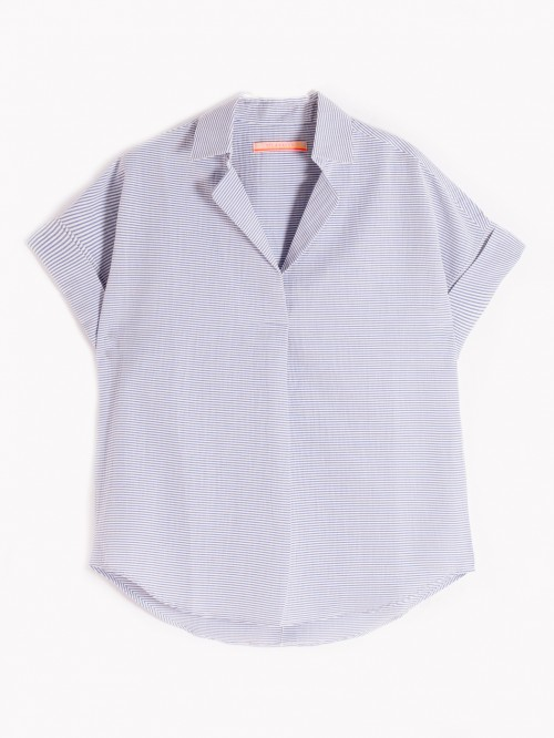 CAMISA MONICA BLUE SERSUCKER