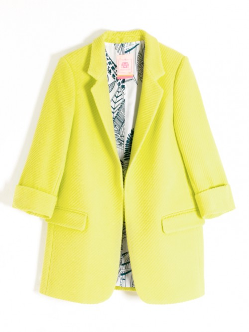 CLOVER JACKET LIME SPRING COTTON