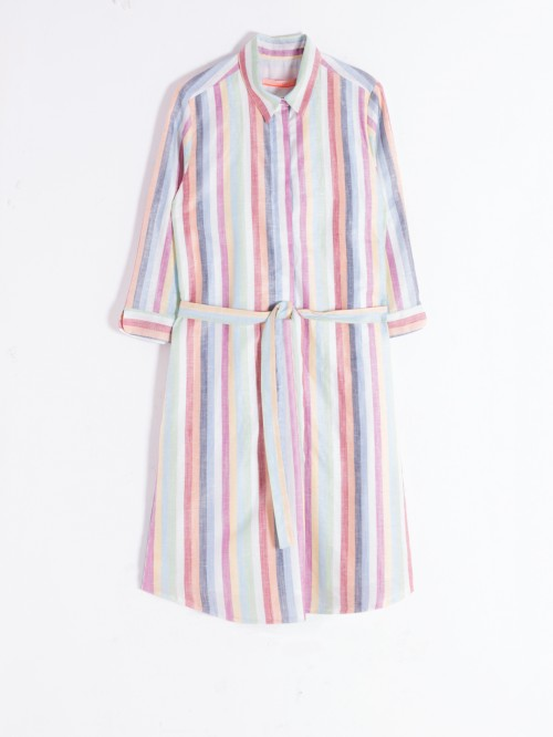 ADRIANA DRESS MULTICOLOURS STRIPES