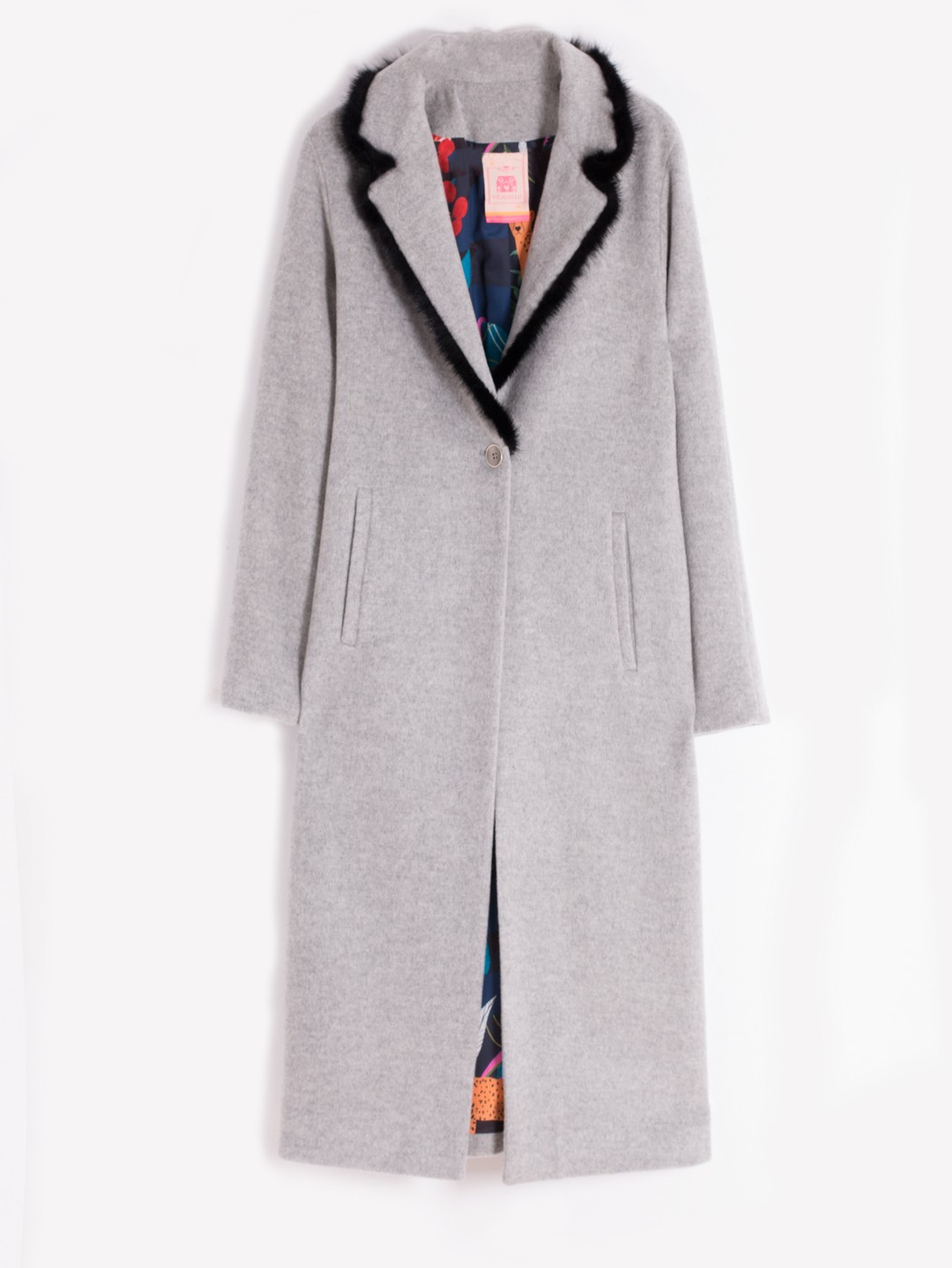 HARPER COAT GREY MELANGE
