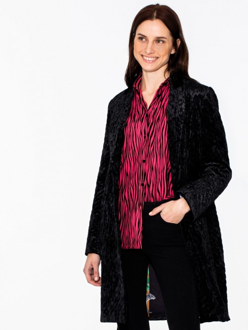 ARICIA COAT BLACK VELVET