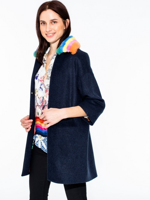SARAH COAT NAVY NAPOLI