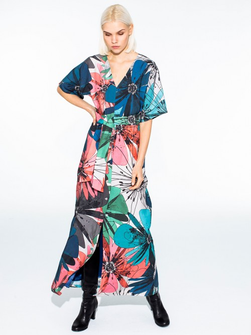 BRINA DRESS FULL BLOOMS PRINT