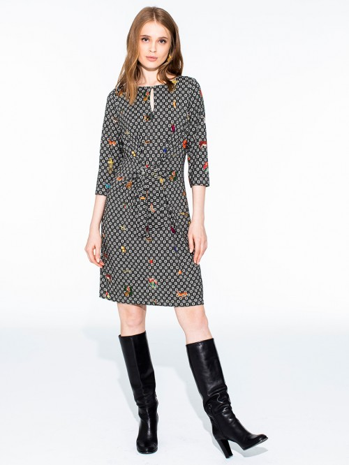VIRGINIA DRESS ARDENNES KN PRINT