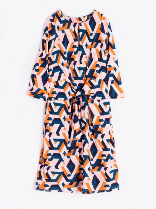 VIRGINIA DRESS PRIMOLO KN PRINT