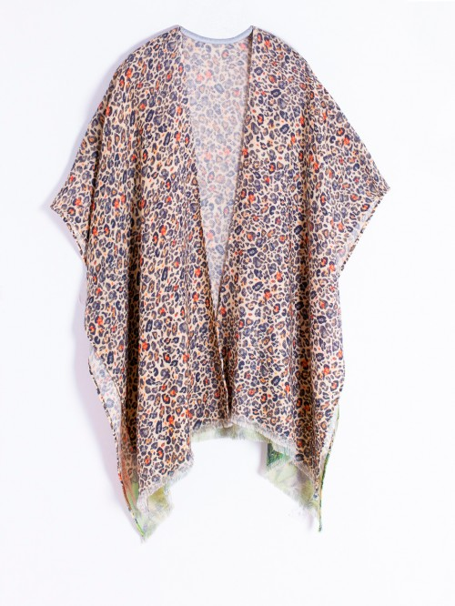 ANASTASIA PONCHO ANIMAL PRINT TARKINE