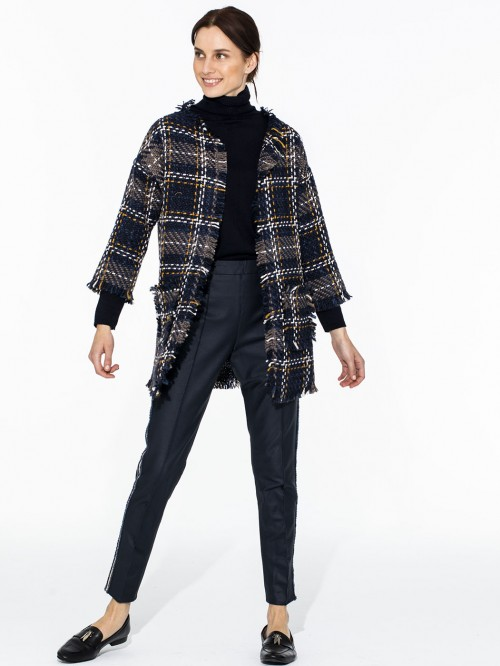 TESSA JACKET LUCCA NAVY CHECK