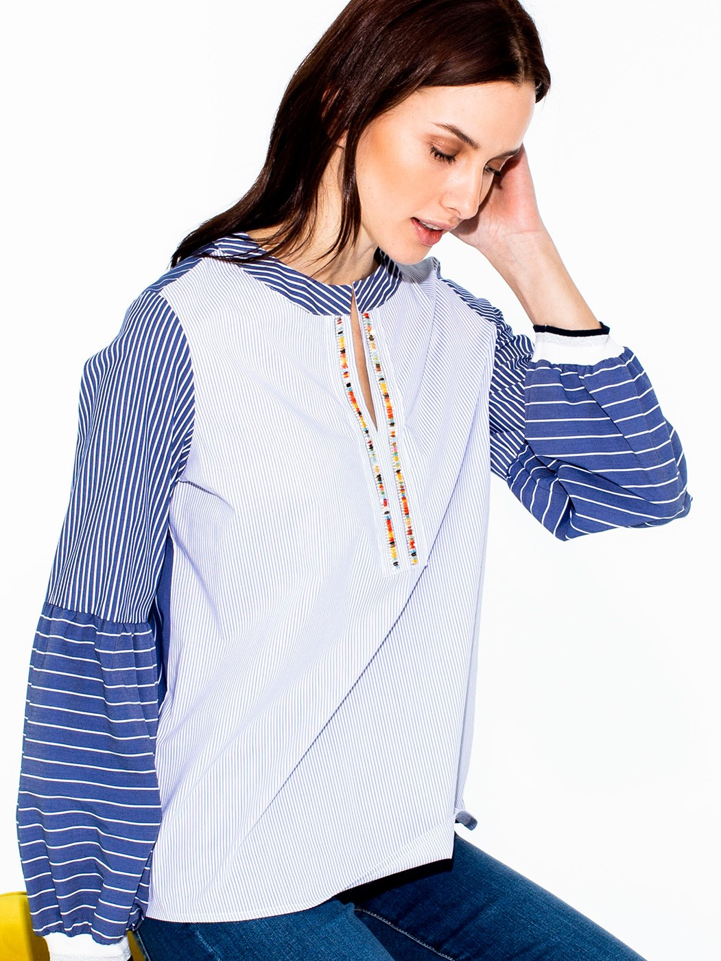 TILDA SHIRT BLUE STRIPE