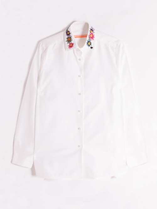 CAMISA DOVER BORDADA WHITE HR
