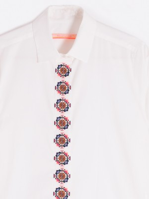 DOVER EMBROIDERED SHIRT WHITE CONFORT CF